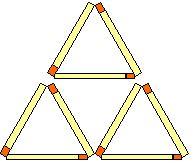 Streichholzrätsel Dreiecke Lösungen
