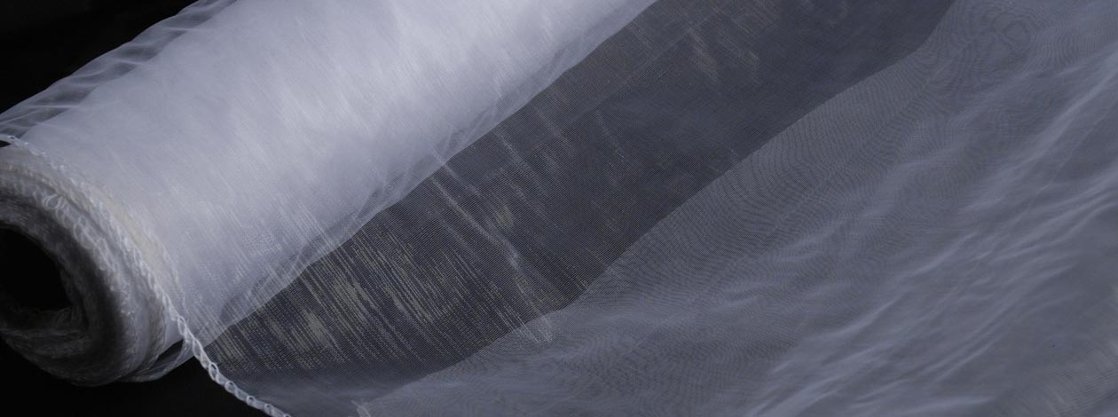 35 cm x 20 gekettelt Organza Stoff