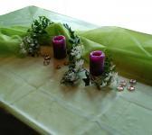 Tischdecke Organza 1,50 x 3,00 m gr�n Dekostoff