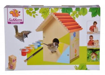 Eichhorn EH Vogelhaus - Vogel Haus zum  Zusammenbauen und Bemalen