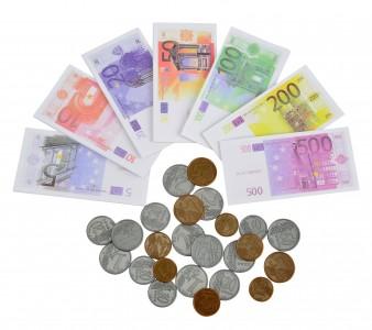 Euro Spielgeld Scheine + Münzen - Geld Kinder Euroscheine Kaufladen