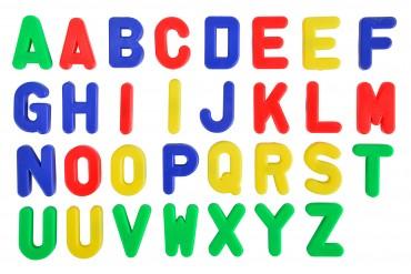 Art & Fun Magnet - 31 Großbuchstaben- magnetische Buchstaben - Magnetbuchstaben