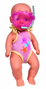 Simba New Born Baby Badepuppe - 30 cm Puppe Babypuppe