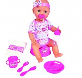 Simba New Born Baby Doll - Baby Puppe - Mädchen Babypuppe Rosa
