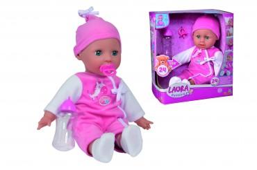 Simba My Love Laura Babysprache - Babypuppe Weichputte 38 cm ab 2 Jahren