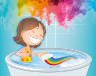 Simba Glibbi Boom - zaubert Regenbogen in die Badewanne - ab 3 Jahre