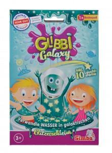 Simba Glibbi Galaxy Glitzerschleim inkl. 10 Leuchtsterne ab 3 Jahre