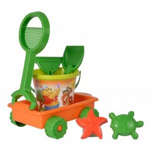 Simba  Sandwagen gefüllt - 6til. Eimer, Wagen, Schaufel, Rechen, Sandformen