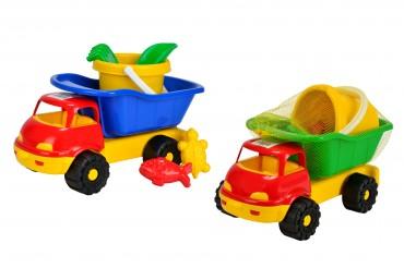 Simba LKW Kipper gefüllt 7100641 Outdoor- Sand Laster 6 teilig