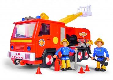 Simba Feuerwehrmann Sam - Jupiter 2.0 mit 2 Figuren - Licht und Sound