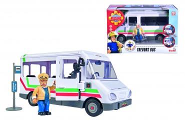 Simba Feuerwehrmann Sam - Trevors Bus mit Figur und Zubehör