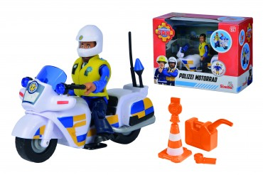 Simba Feuerwehrmann Sam - Polizei Motorrad mit Figur