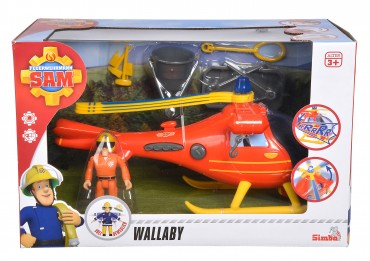 Simba Feuerwehrmann Sam - Hubschrauber mit Figur - Sound/Licht