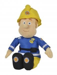 Simba Sam Plüschfigur 45 cm groß - Feuerwehrmann Kuscheln mit Helm