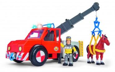 Simba Feuerwehrmann Rettungsfahrzeug Phoenix mit Figur und Pferd