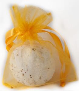 10 Organzabeutel 10 x 7,5 cm hell orange