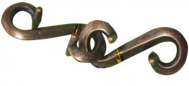 verhakte S's - Metallpuzzle S
