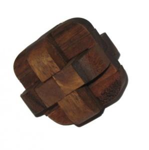 Diamanten Würfel Holzgeduldspiel