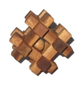 Gefangener Ball - Holzgeduldspiel - Geduldspiel aus Holz