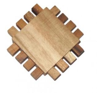 Blockierte Stifte - Holzgeduldspiel - kleines Holz Geduldspiel