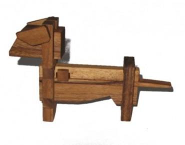 Das Hunde Puzzle - Holz Geduldspiel Hund