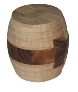 Holzpuzzle -  Großes Faß Puzzle