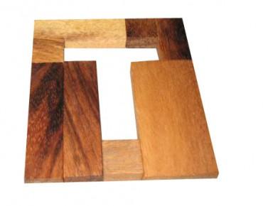 T - Puzzle - Holzpuzzle T - Holz Geduldspiel