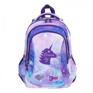 Schulrucksack Rucksack für Schule 20 l 3 Fächer Unicorn Einhorn Mädchen BP26