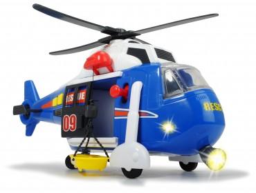 Dickie Helicopter Rettungshubschrauber Hubschrauber mit Seilwinde, .... ab 3 Jahren