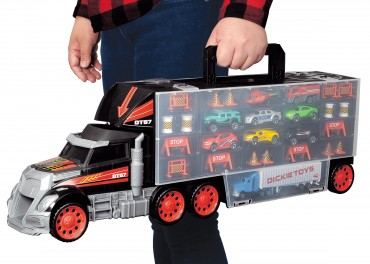Simba Truck Carry Case - Autokoffer in Truck Form mit 9 Fahrzeugen 62 cm lang