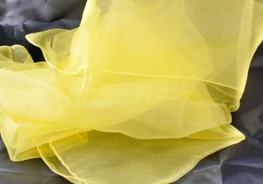 3 Jongliertücher gelb 70 x 70cm gelb