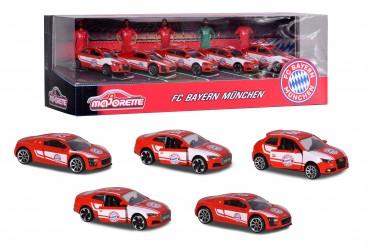 Majorette FC Bayern Auto Set - 5 Autos in Geschenkpackung