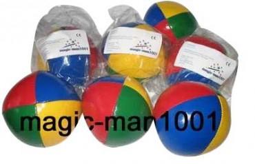 Jonglierball 6,3 cm, glatt, aus 4 Farben, Bean Bag - Jonglierbälle