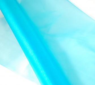 Organza türkisblau 10 m - Organzastoff  Dekoration - Tischdeko - Deko