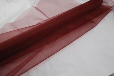 Organza aubergine farbig 10 m x 70 cm - Deko Stoffe
