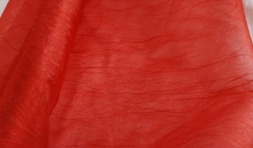 Struktur Organza dunkel rot  58 cm x 9 m lang