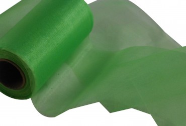 Organzaband 12 cm x 25 m hellgrün