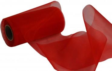 Organzaband 12 cm x 25 m rot - Organzabänder