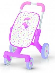 Smoby Peppa Pig Puppenbuggy - Puppenwagen pink Puppen Wagen