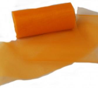 Organzaband 12 cm x 25 m orange - Dekobänder