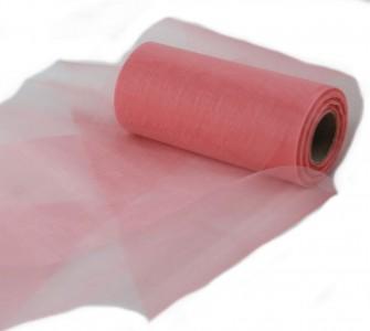 Organzaband 12 cm x 25 m pink- Dekobänder