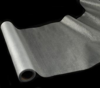 Organza metallisch glitzernd 35 cm x 10 m Silber