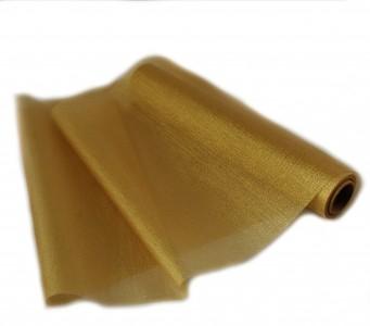 Organza metallisch glitzernd 35 cm x 10 m Gold