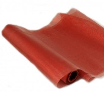 Organza metallisch glitzernd 35 cm x 10 m rot