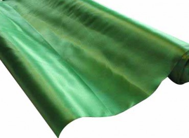 Satin Stoff 140 cm x 10 m grün - Satinstoff -