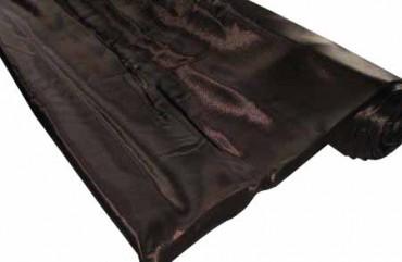 Satin Stoff 140 cm x 10 m dunkel braun