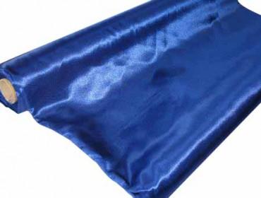 Satin Stoff 140 cm x 10 m blau