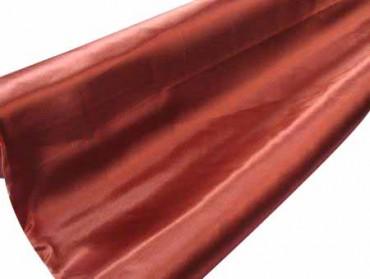 Satin Stoff  140 cm x 10 m rot braun