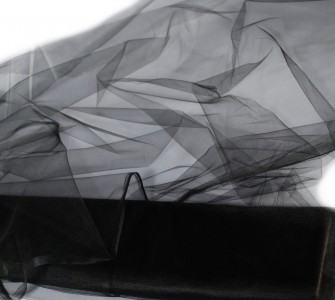 Tüll in schwarz 150 cm x 10 m Tüllstoff
