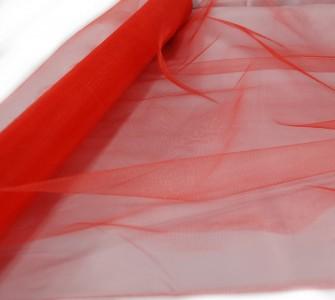 Tüll in rot 70 cm x 20 m Tüllstoff